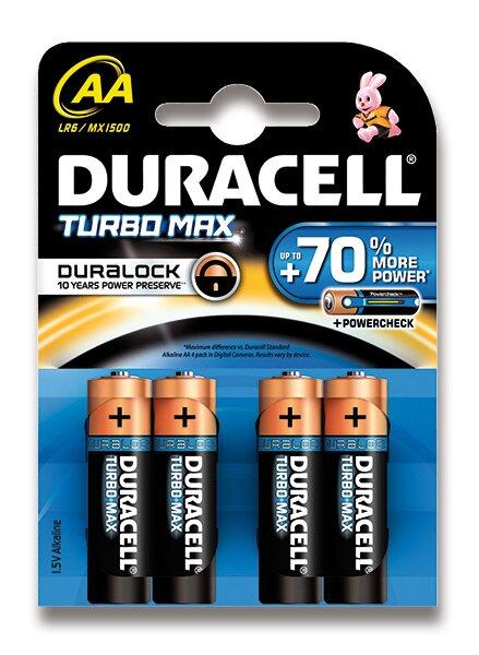 Baterie Duracell Turbo AA, 4 ks