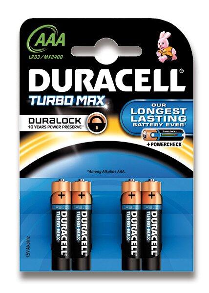 Baterie Duracell Turbo AAA, 4 ks