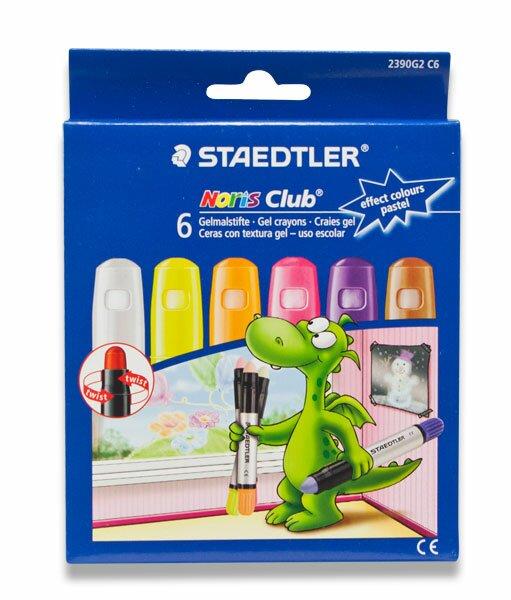 Gelové voskovky Staedtler na sklo pastelové, 6 barev