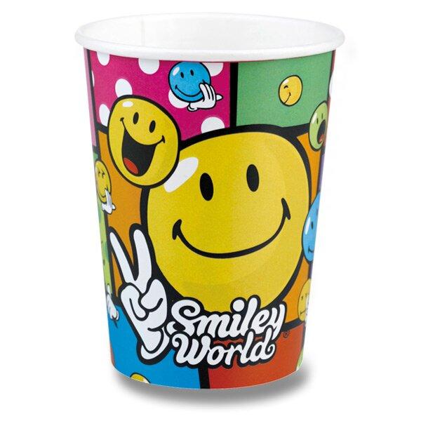 Papírové kelímky Smiley Comic objem 0,25 l, 8 ks