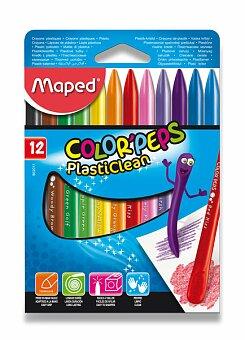 Obrázek produktu Plastové pastely Maped Color'Peps Plasticlean - 12 barev, trojhranné