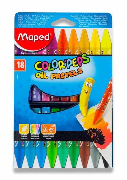 Olejové pastely Maped Color'Peps Oil Pastels 18 barev