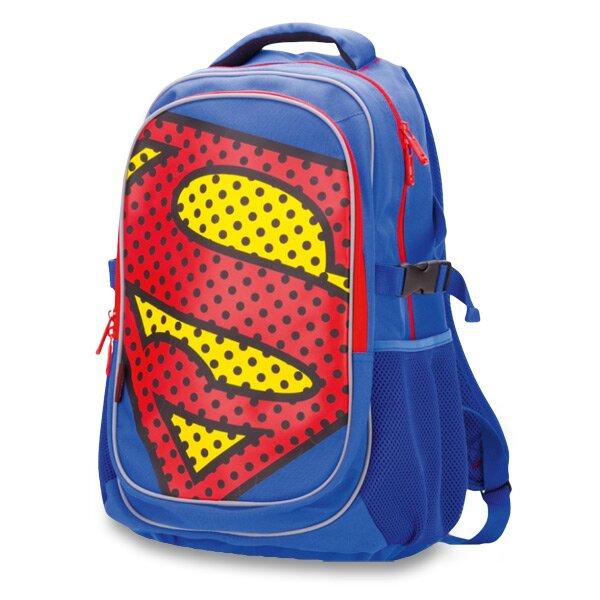 Školní batoh Superman s pončem do deště jako dárkem