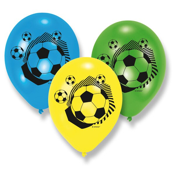 Nafukovací balónky Football Party 6 ks
