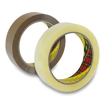 Obrázek produktu Samolepicí páska Tartan - 25 mm × 66 m, transparentní nebo hnědá