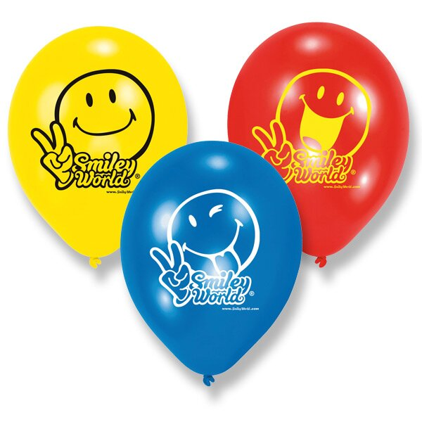 Nafukovací balónky Smiley Comic 6 ks