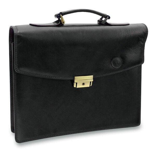 Luxusní kožená aktovka Triton Marco černá