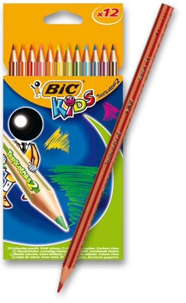 Pastelky Bic Kids Tropicolors 2 12 barev