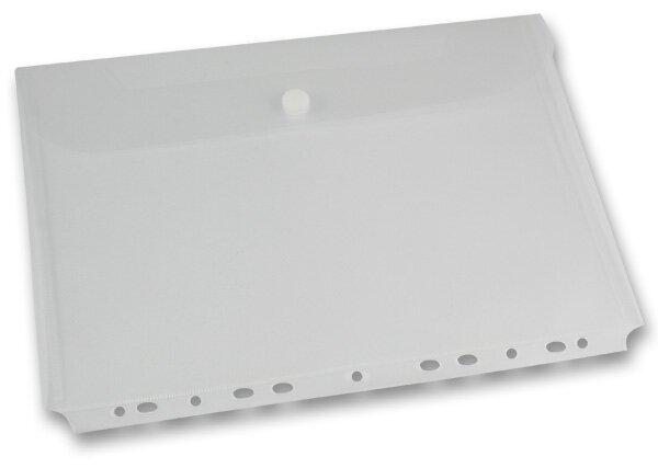 Spisovka závěsná FolderMate Clear A4, boční chlopeň, transparentní