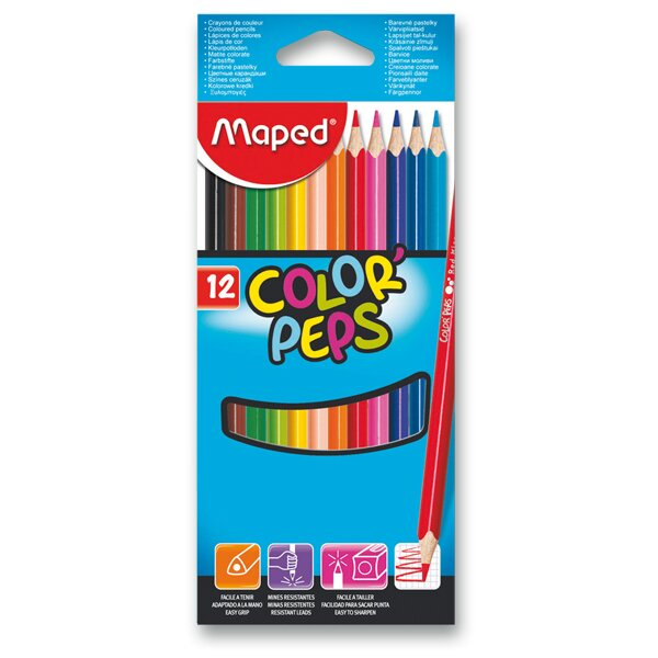 Pastelky Maped Color'Peps 12 barev