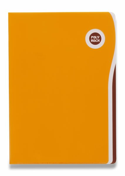 Zakládací desky Poly Rock A4 oranžové
