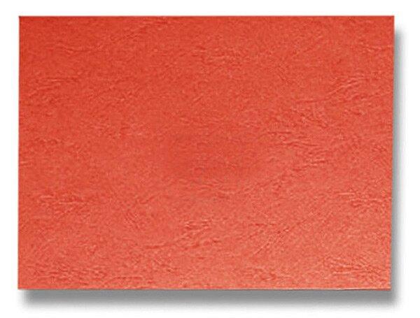 Barevná zadní strana pro kroužkový vazač A4 Ibiston červená
