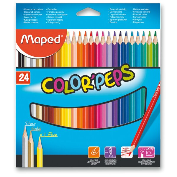 Pastelky Maped Color'Peps 24 barev