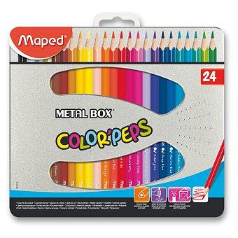 Obrázek produktu Pastelky Maped Color'Peps Metal Box - 24 barev