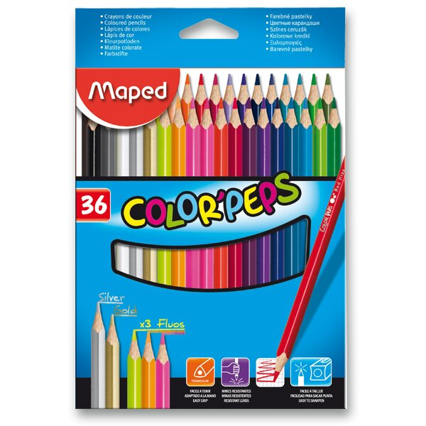 Pastelky Maped Color'Peps 36 barev