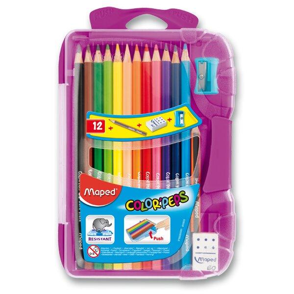 Pastelky Maped Color'Peps Smart Box 12 barev + doplňky