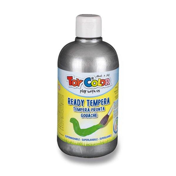 Temperová barva Ready Tempera - 500 ml stříbrná