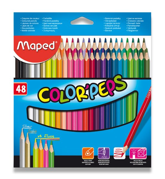 Pastelky Maped Color'Peps 48 barev