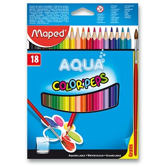 Obrázek produktu Pastelky Maped Color'Peps Aqua - 18 barev + štětec