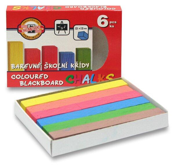 Křídy školní Koh-i-noor 112505 6 barev