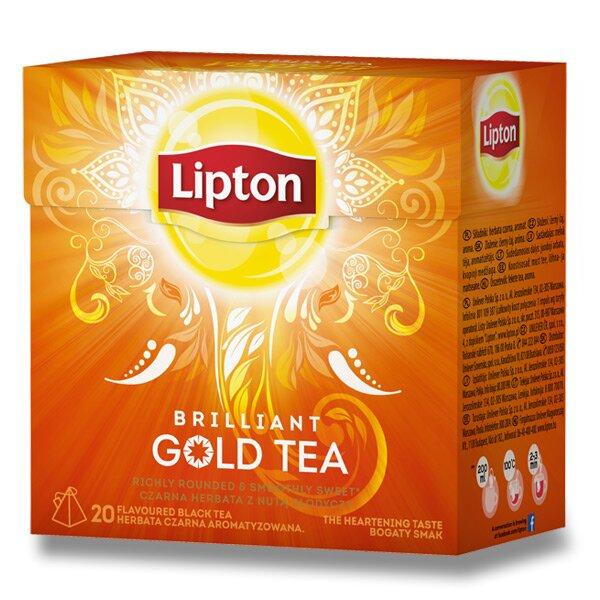 Černý čaj pyramida Lipton Gold Tea 20 sáčků