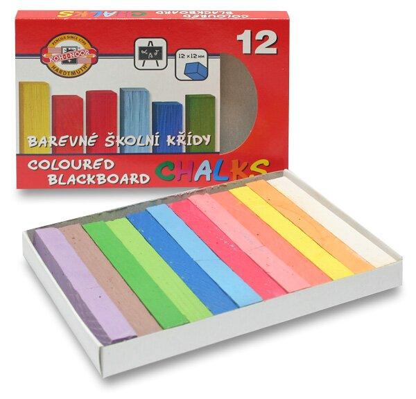 Křídy školní Koh-i-noor 112506 12 barev