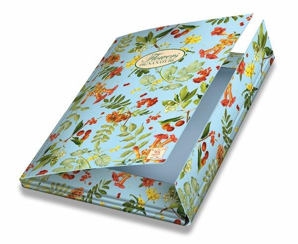 3chlopňové kartonové desky Pigna Nature Flowers A4, mix motivů