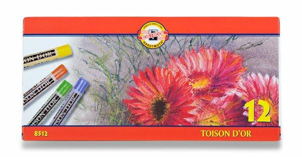 Křídy prašné Koh-i-noor TOISON D´OR 8512 12 barev