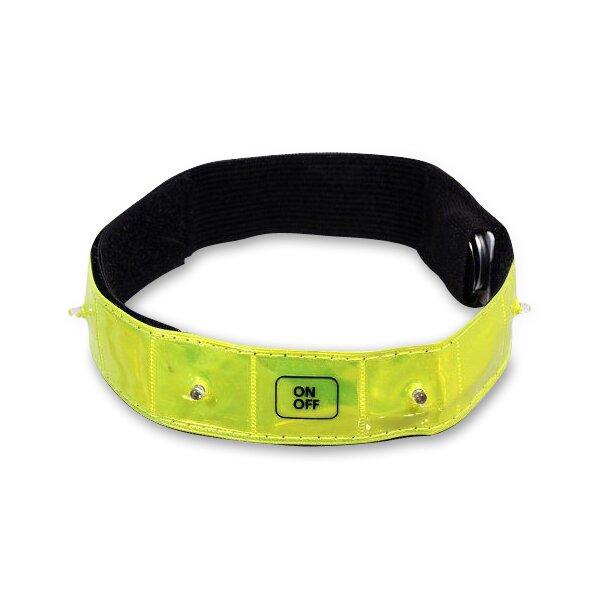 Reflexní pásek 4LED svítící žlutý