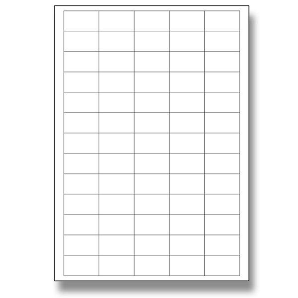 Bílé samolepící etikety SK Label 38 x 21,2, 6500 ks