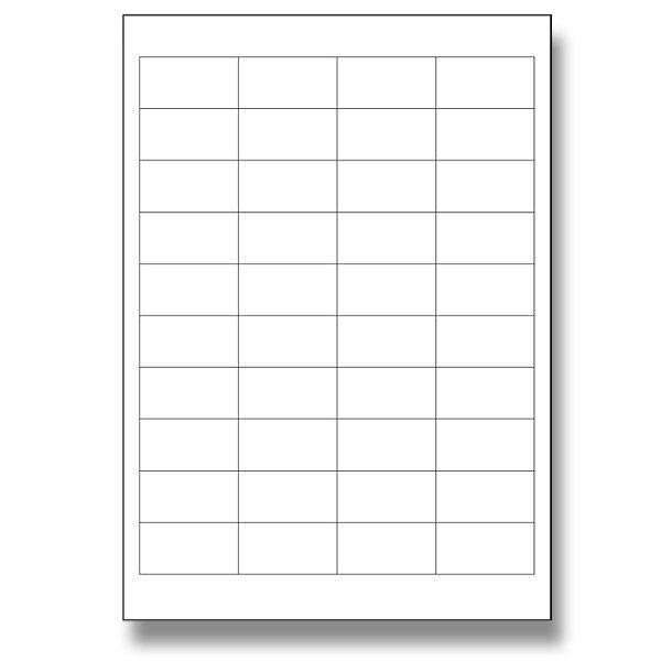 Bílé samolepící etikety SK Label 48,5 x 25,4, 4000 ks