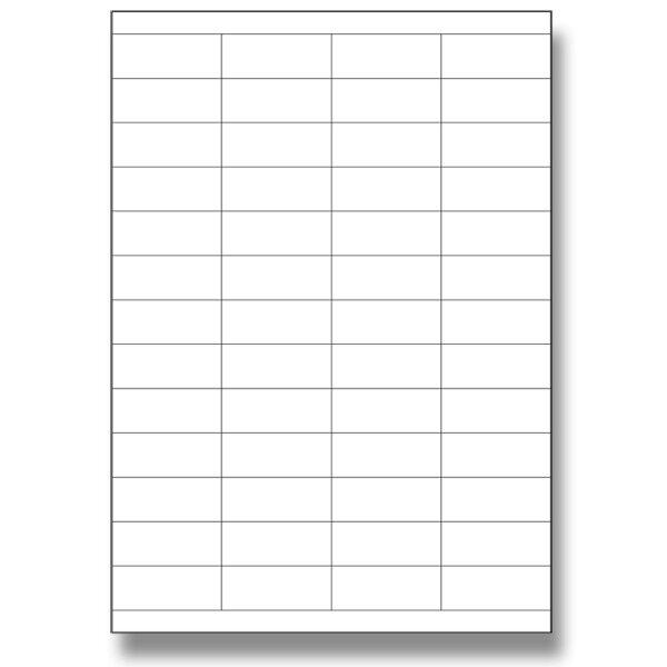 Bílé samolepící etikety SK Label 52,5 x 21,2, 5200 ks