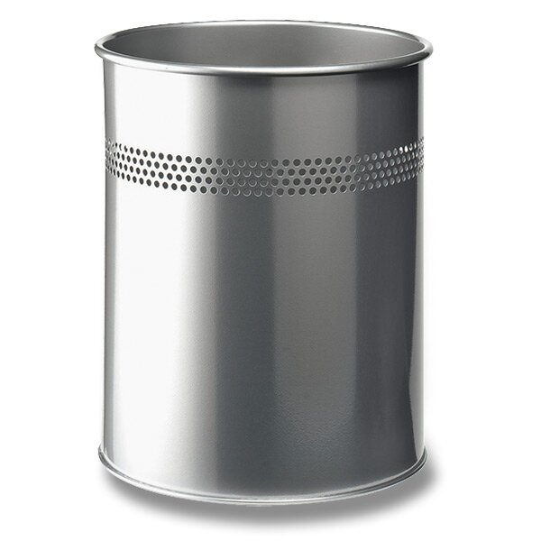 Kovový odpadkový koš Durable stříbrný