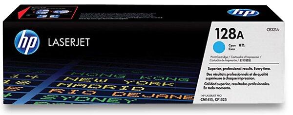 Toner HP CE321AE č. 128A pro laserové tiskárny cyan (modrý)