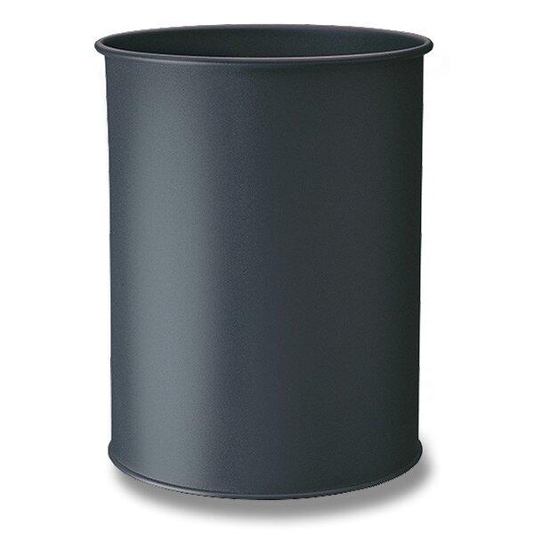 Kovový odpadkový koš Durable černý