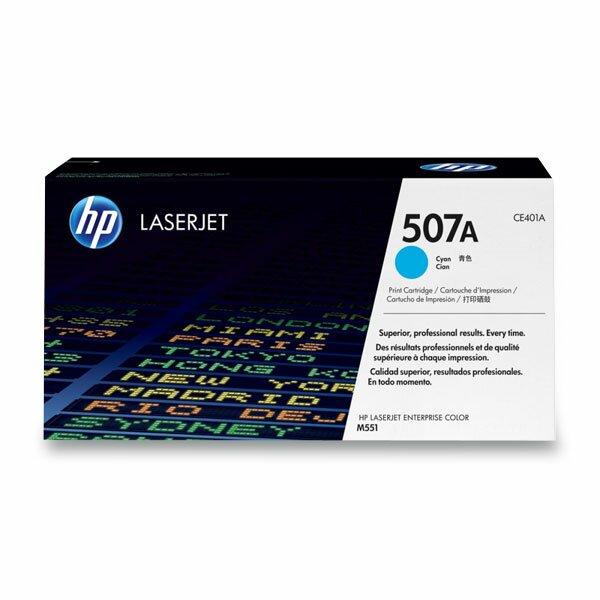 Toner HP CE401A č. 507A pro laserové tiskárny cyan (modrý)