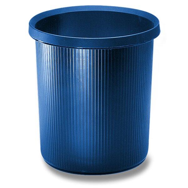Plastový odpadkový koš Helit modrý