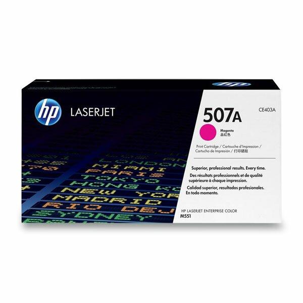Toner HP CE403A č. 507A pro laserové tiskárny magenta (červený)