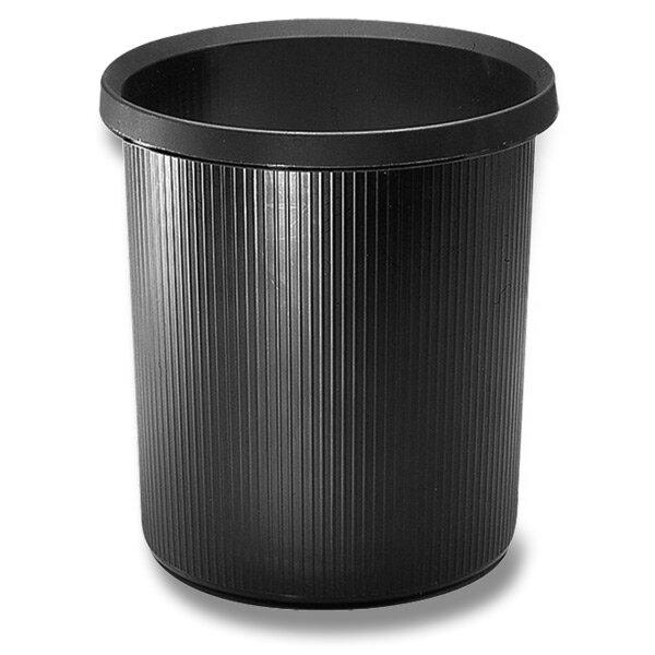 Plastový odpadkový koš Helit černý