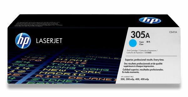 Toner HP CE411A pro laserové tiskárny cyan (modrá)