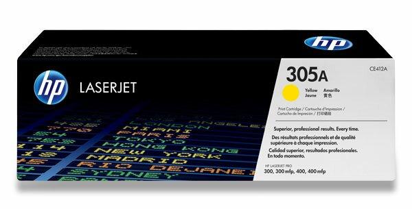 Toner HP CE412A pro laserové tiskárny yellow (žlutá)