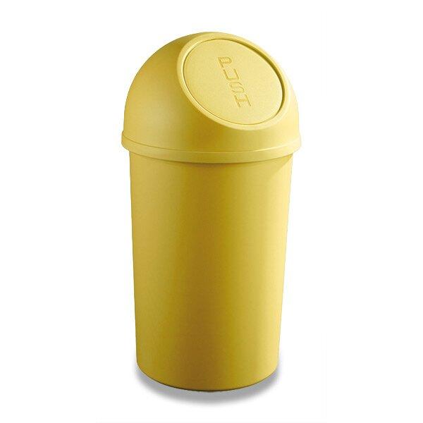 Plastový koš s víkem Helit žlutý