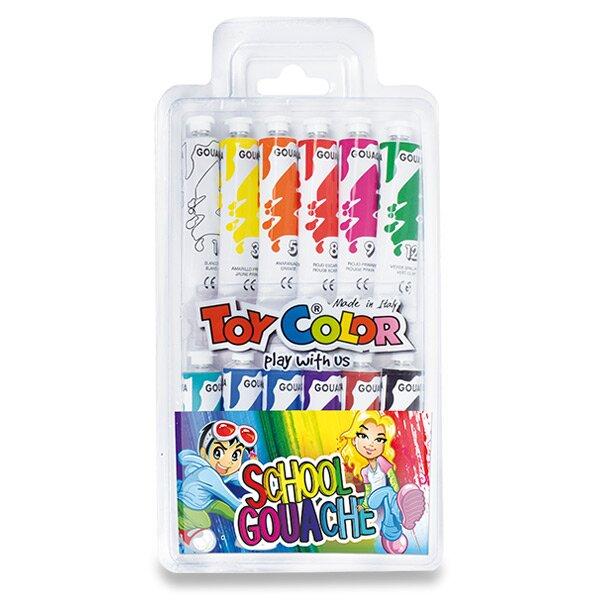 Temperové barvy Toy Color 12 barev, tuba 12 ml