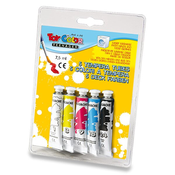 Temperové barvy Toy Color 5 barev, tuba 7,5 ml