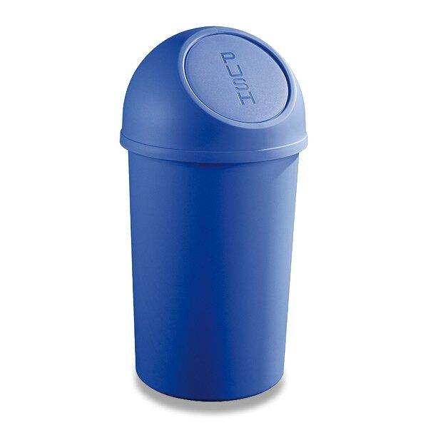 Plastový koš s víkem Helit modrý