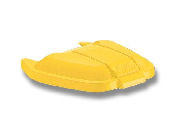 Plastové víko k Contaienru Rubbermaid žluté
