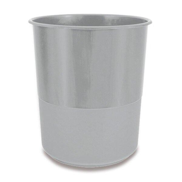 Plastový odpadkový koš Chemoplast šedý