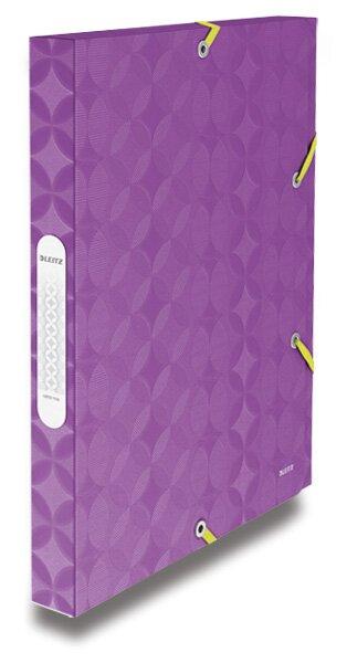 Box na dokumenty Leitz Retro Chic fialový/ žlutý