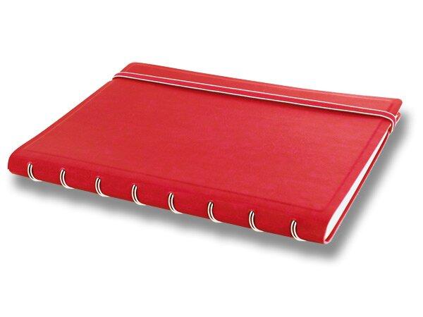 Kapesní zápisník Filofax Notebook Classic červený