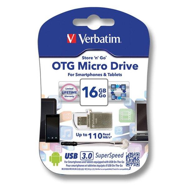 Flash disc Verbatim OTG USB 3.0 16 GB